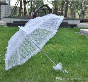 2018 gros haute qualité dentelle blanche parasols de mariée parapluies de mariage