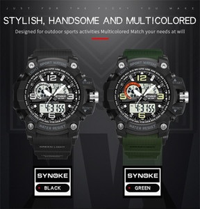 SYNOKE Electronic Men Camouflage G Digital-watch Mens Shock Style Military LED Wristwatches Army Fashion Wrist Sports For Watches 9403 Aeje