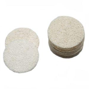Natural Loofah Pads faciais Loofah Disc Makeup Remover Esfoliante de Rosto Loofah Pad Small Size Luffa Loofa