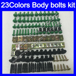 pernos carenado completo kit de tornillos para tornillos KAWASAKI ZZR600 05 06 07 08 ZZR 600 2005 2006 2007 2008 05-08 tuercas del cuerpo de tuerca 25colors juego de pernos