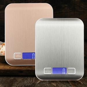 5 kg / 1 g 10 kg / 1 g Escala de cocina digital de acero inoxidable Herramienta de medición de la dieta de la cocina de alimentos 10 kg Balance de peso electrónico