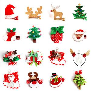 Árvore de Natal 10pcs Luvas grampo de cabelo feltro de lã clipes Snowman Hairpin Duckbill Bb Rim doces de cabelo para meninas mantilha caçoa o presente