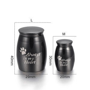Personalizado Mini Funeral Casket Jóias para Pet Aço Inoxidável Cremação Ashes Lembrança Cão Paw Print Memorial Urn Pingente