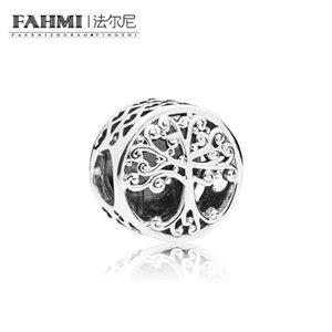 FAHMI 100% 925 Sterling Silver 1: 1 Nuovo 797590 FAMIGLIA FAMIGLIA OPENWORK CHARM Beaded Original Jewelry Regalo delle donne