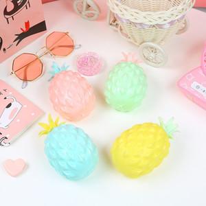Abacaxi Forma Malha Bola Mole Para Crianças Adultos Stress Aliviar Brinquedos Creatuve Frutas Mão Squeeze Brinquedo de Alta Qualidade 3 2la BB