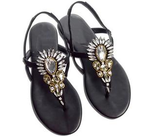 Sandali stile Bohemia con fibbia con cinturino e fibbia da donna Sandali firmati Roma in cristallo con plateau e scarpe da spiaggia