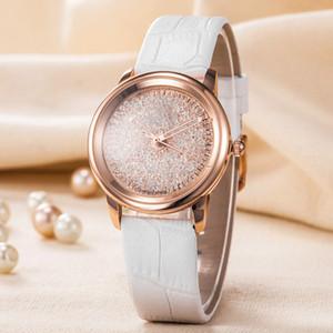 Nouveau populaire décontracté cadran carré visage femmes regardent noir / blanc / rouge / or rose diamant en cuir montre-bracelet dame montres célèbre marque montres habillées