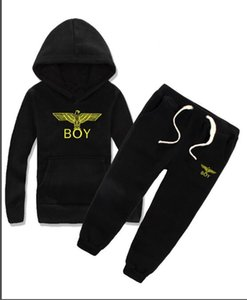 Brands BY-02 Kids Sets 2-7T Kids Hoodies and Pants 2Pcs sets Children Sports Sets Baby Boys Girls Winter Coats Pants Sets