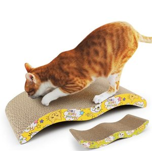 Pet Cat Scratching Post Cat Toy dégradables Corrugated Matière carton pour Chats Sharpen Claw Interactive Toy formation Griffoir