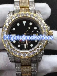 Orologio da uomo automatico da uomo Diamante pieno nuovo orologio da uomo alla moda conchiglia bi-oro orologio da uomo impermeabile spedizione gratuita