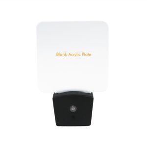 Mini lampe de nuit optique RGB LED Capteur de lumière intégré US Wall Plug7 RGB Lights Plaque acrylique vierge Vente en gros CE RohS UL Certification