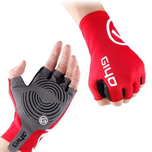 2018 anti derrapante gel pad luvas de bicicleta gel pad curto metade do dedo luvas de ciclismo respirável esportes ao ar livre homens bicicletas pulseiras luva
