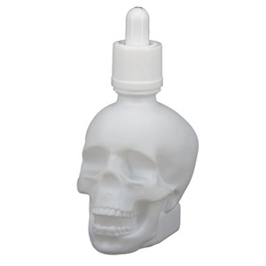 30ml 60ml 120ml Botella Botella cráneo Bitter Forma E cráneo líquido botellas de vidrio gotero con a prueba de niños