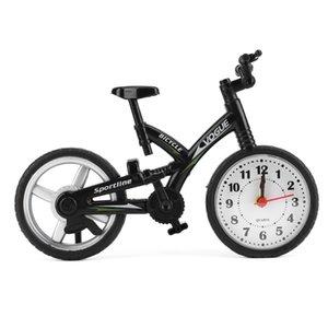 빈티지 자전거 모형 자명종 시계 석영 운동을 가진 크리스마스 선물 선반 장식을위한 Baery 강화 된 탁상 시계