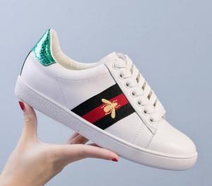 New Ace embroidery Tiger head Uomo Donna Mocassini Sneakers Moda Low Cut Lace up Bianco Scarpe casual Unisex Zapatos Scarpe da passeggio