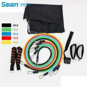 Resistance Band Set 11 pezzi con bande di esercizio del tubo, Porta di ancoraggio, cinturini alla caviglia e Carry Bag