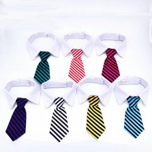 Chien Toilettage Chat Rayé Bow Tie Animal Rayé Bowtie Col Pour Animaux de compagnie Réglable Cou Cravate Blanc Collier Chien Cravate Pour Fête De Mariage
