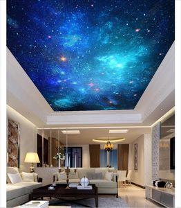 peinture murale plafond photo personnalisée 3d fond d'écran fond d'écran de FANTASY papier peint mural plafond étoilé zénith du ciel pour les murs autocollant 3D