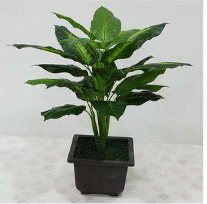كبير 50 سنتيمتر الخضرة الاصطناعي النباتات 25 أوراق واقعية بوش بوعاء النباتات البلاستيك شجرة خضراء الرئيسية حديقة مكتب الديكور