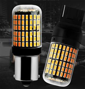 Accessori auto T20 7440 W21W Lampadine a LED 3014 Canbus Led 144smd Nessun errore 1156 BA15S P21W BAU15S PY21W Lampada a LED per luce di svolta auto