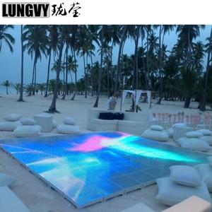 10 adet / grup 15X15 Piksel 225 adet 5050 SMD RGB Dans Panelleri Düğün Parti için LED Video Dans Zemin Sahne ekran