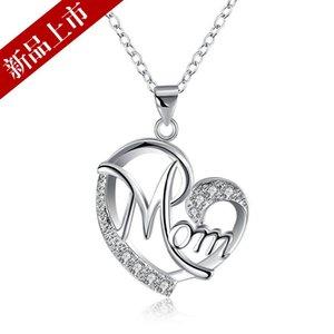 New Fashion Jewelry Collane Pearl Lovely Heart Mom Pendant Necklace Collana donna speciale per il regalo festa della mamma