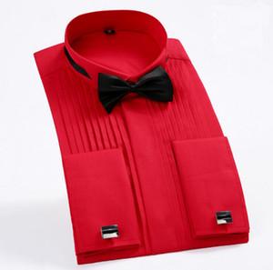 Camicie da smoking da uomo con maniche lunghe a colori maniche lunghe da uomo Camicie da sposa da uomo calde con maniche lunghe