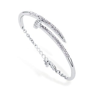 Free Gift Christmas Women For Silver Charm Gold Nail Bangle Bracelets Bracelets Jewelry Party Jewelry Fashion Shipping Eujlb