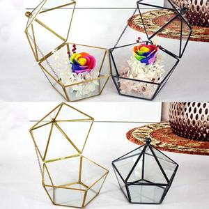 15 * 17 см новый миниатюрный стеклянный террариум геометрические Алмазный рабочий стол сад плантатор сочные растения Стеклянный дом садоводство домашнего декора WX9-675