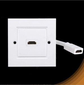 Yeni 2 Port HDMI Duvar Yüz Plakası Paneli Tekrarlayıcı Bağlayıcı Çift / Tek Portları Ile Kablo ücretsiz kargo