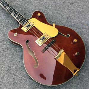 Alta qualità Jazz 4 corde basso, semi basso Basswood Barrel basso, manico in acero, tastiera in palissandro, foto reali