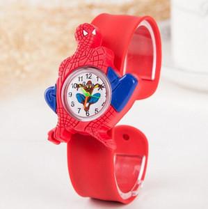 50 orologi Ocean Animal Snap di stile 3D Orologi per bambini in cartone animato Ultraman Spider-man per bambini Orologio da polso sportivo in silicone con schiaffo in silicone per regali di Natale