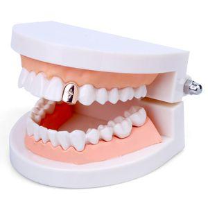 Новый горячий продавать медь материал Кристалл горный хрусталь Grillz стоматологические Грили хип-хоп рэп стиль зубы скобка дешевые Хэллоуин хип-хоп стоматологические Грили