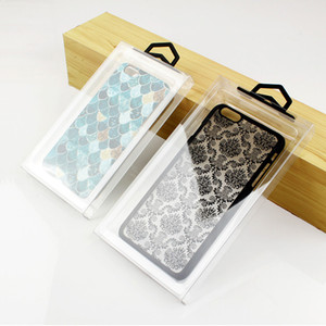 New Clear Transparent PVC Plastic Packaging Box for iPhone X 8 8 Plus Protective Case Cover