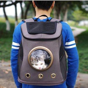 Alta calidad Canvas Pet Carrier Large tamaño mediano Elegir Space Capsule mochila para perro gato fuera de viaje bolsa de productos para mascotas para mascotas acceso