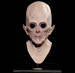 Alien Mask Carnival Halloween Big Eye Alien Mask Scary Mask Fiesta de Halloween Fiesta Cosplay Traje Suministros Cara Completa Alien Transpirable