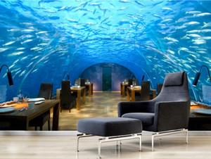 Personalizado 3d papel de parede para paredes 3 d sala de estar TV pano de fundo O mundo subaquático papéis de parede decoração da casa foto tijolo papel de parede 3d