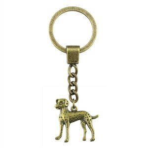 6 Pieces Key Chain Women Key Rings Couple Keychain For Keys Puppy Dog 29x29mm