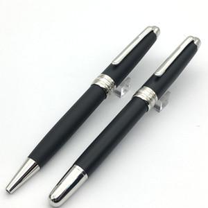 Caneta de luxo Ultra Black Classique Tamanho Prateado clipe caneta esferográfica e rollerball caneta opções para a escola e oferta de presentes