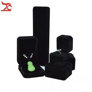 5pcs / set di alta qualità imballaggio di gioielli caso nozze velluto anello braccialetto orecchino collana ciondolo catena jade storage organizer set confezione regalo