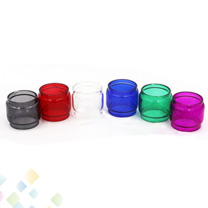 Colorful TFV12 Prince Tank 8ml Extended Pyrex Glass Tubes Fat Boy 7 Colori Tubo di vetro Sleeve Sleeve Ecig DHL Free