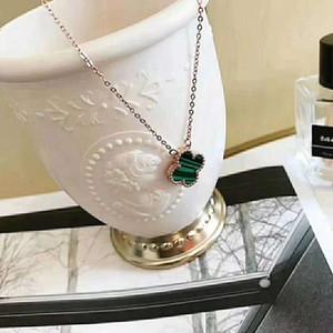 Dupla face shell trevo colar de quatro folhas de jóias trevo pingente de colar de moda bela nobre ornamento feminino com caixa DHL livre
