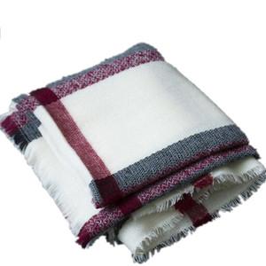 Plaid Blanket Scarf Cashmere Feel Scarves Shawls Womens Scarfs Fashionable Pashmina Poncho Giant Check Scarf For Women 200x100
