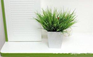 Novel Spring Grass Green Simulation Fogliame 7 Fork Plastic Leaf artificiale Classic Office Home Exquisite Light 1 4xg cc