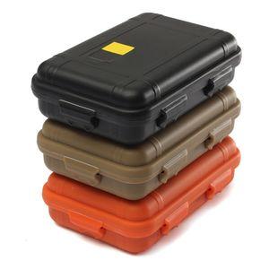 Viagem ao ar livre plástico à prova de choque impermeável Caixa de armazenamento recinto caso Airtight Survival Container Camping à prova de choque Box
