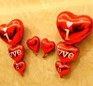Ben U Alfabe hava balonlar Parti düğün Dekorasyon sevmek kırmızı 3 yapışık Mylar Folyo Balon büyük Mektup Balonlar ev DIY Malzemeleri toptan