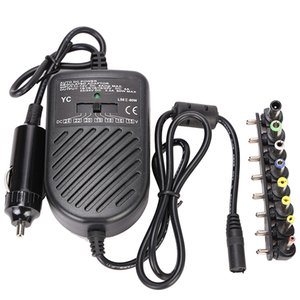 Universal DC 80W Car Auto Charger Power Supply Adapter Set For Laptop Notebook with 8 detachable plugs car styling Free Shipping