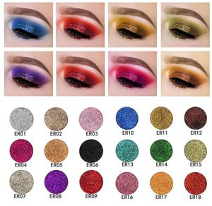 Paleta de sombra de ojos mate natural de calidad superior POPFEEL 18 brillo de color en polvo de diamante prensado Glitters Single Eyeshdow