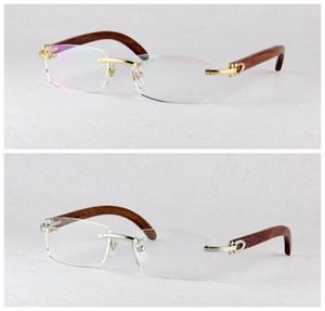 Kostenloser versand Hohe Qualität männer Classics Optische Rahmen Metall Randlose Myopie Brillengestell 3524012 brillengestelle für frauen