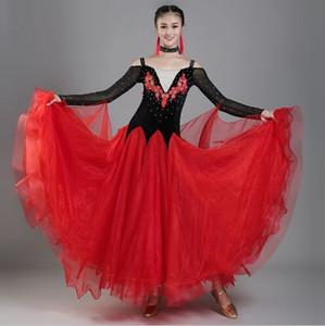 3 цвета большие качели стандартное бальное платье женщина бальные платья стандартное вальс танцевальное платье элегантное платье современного танца Foxtro танцевальная одежда